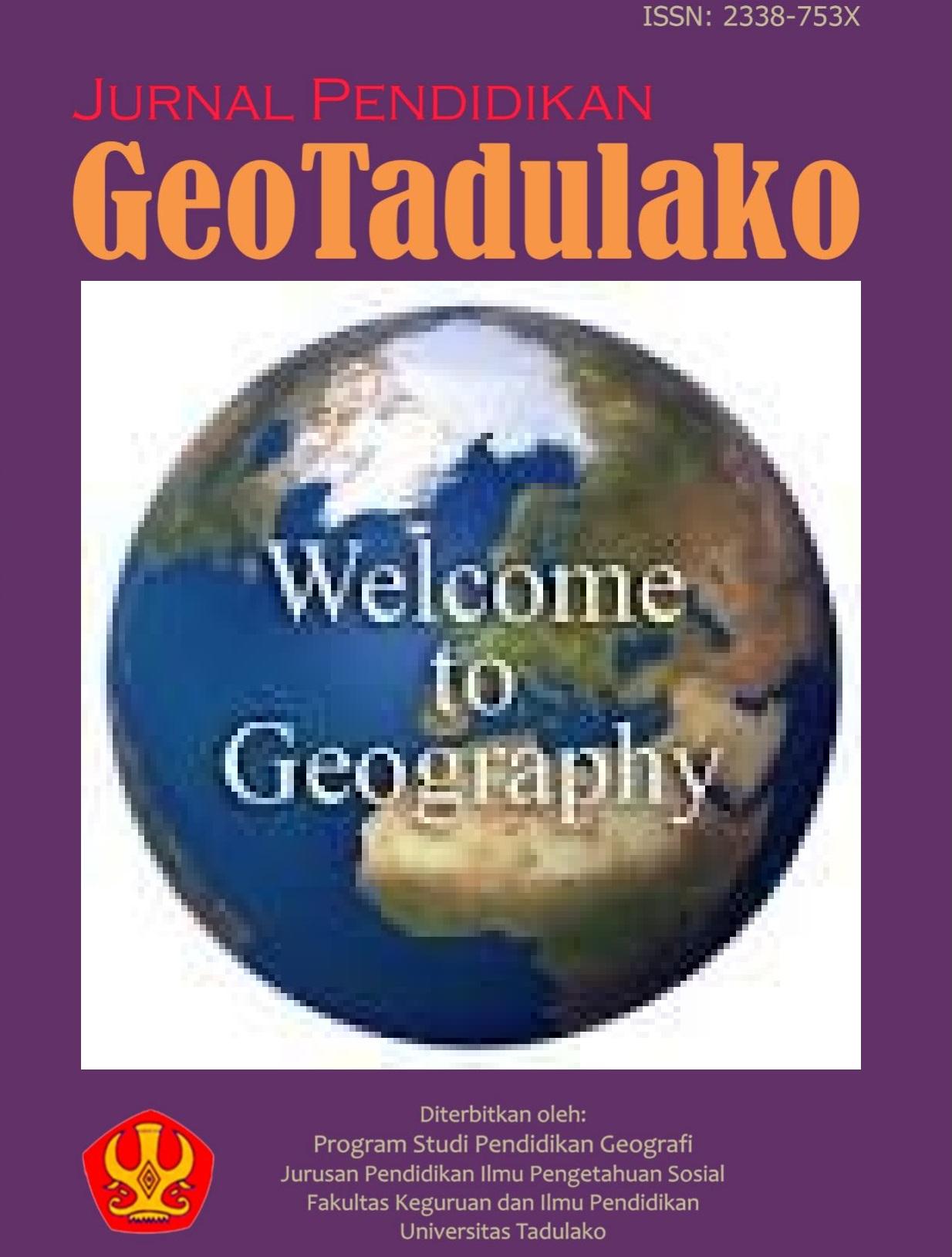 JURNAL PENDIDIKAN GEOGRAFI FKIP UNIVERSITAS TADULAKO