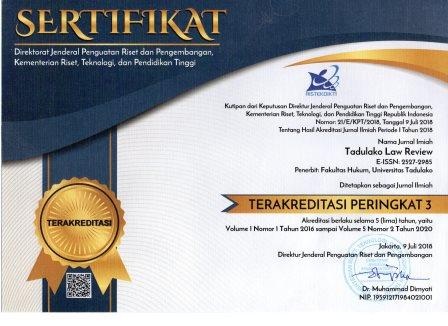 Tadulako Law Review